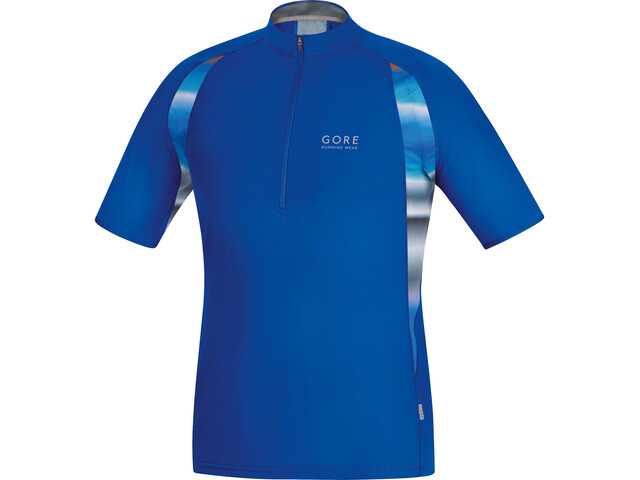 GORE RUNNING WEAR AIR PRINT Camiseta Running Hombre, brilliant blue